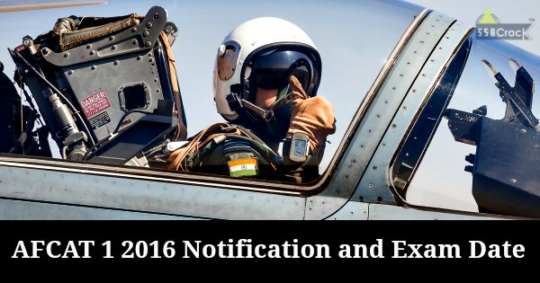 AFCAT 1 2016 Notification