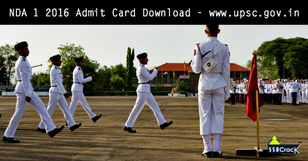 NDA 1 2016 Admit Card