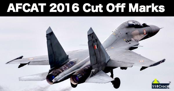 AFCAT 1 2016 Cut Off Marks