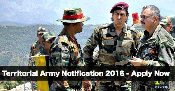 Territorial Army Recruitment 2016