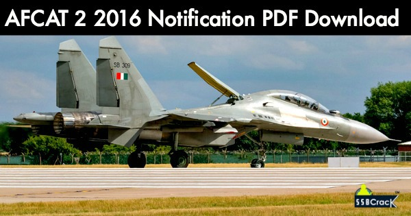 AFCAT-2-2016-Notification-PDF-Download