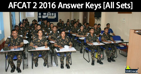 AFCAT 2 2016 Answer Keys [All Sets]
