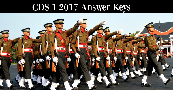 CDS 1 2017 Answer Keys