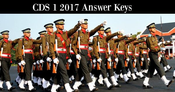 CDS 1 2017 Answer Keys