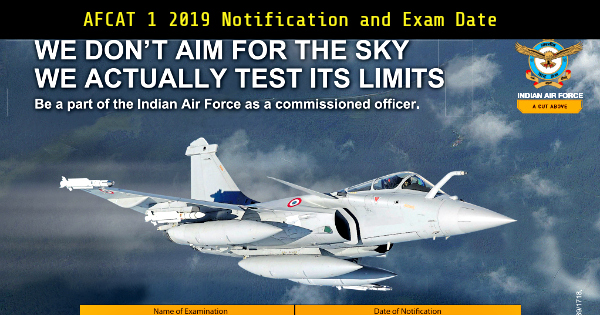 AFCAT-1-2019-Notification-and-Exam-Date
