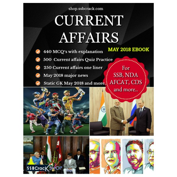 Current Affairs May 2018 Ebook SSBCrack