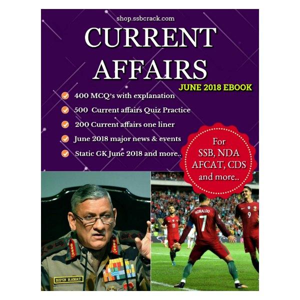 Current Affairs June 2018 eBook SSBCrack