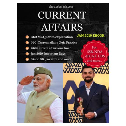 Current Affairs Jan 2019 eBook SSBCrack