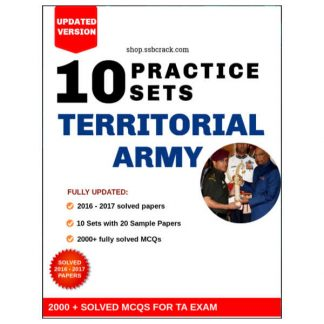 Territorial Army Solved Papers eBook SSBCrack