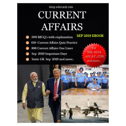 Current Affairs Sep 2019 eBook SSBCrack